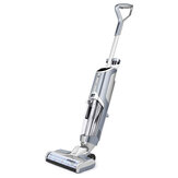 AlfaBot T30 150W Cordless Water Spray Mopping Machine Vacuum Cleaner Hardwood Floor and Area Rugs Self Cleaning Wet-Dry Floor Cleaner with Dual Tank Techonology Voice Assistance