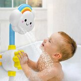Baby Bath Shower Spray Spray Nuvem Rainbow Water Squirt Faucet Kids Bathing Play