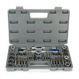 40Pcs M3-M12 Screw Nut Die Die Set com chaves de bitola Ferramentas manuais