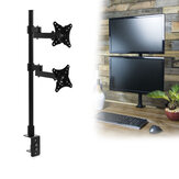 LED Monitor Stand Desk Mount Bracket Heavy Duty Fully Adjustable fits 2 Screens up to 27