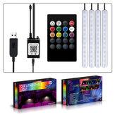 Autó RGB légköri lámpák Autó belső környezeti fény dekoratív műszerfal ajtó távirányító és alkalmazásvezérlő lámpa