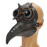 Гонки на мотоциклах Plague Doctor PU Маска Длинный нос Клюв Bird Crow Косплей Стимпанк Реквизит