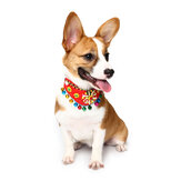 Yani PC1 Animal Colar de sino de estilo étnico Colorful Cute Animal Cachorro Fashion Collar Cotton Cachorro Grooming