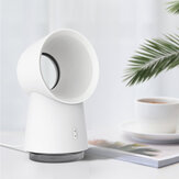3 in 1 Mini-koelventilator Bladeless Desktop Fan Mist-luchtbevochtiger met LED-licht