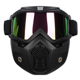 Detachable Modular Helmet Face Mask Shield Goggles Colorful Lens Motorcycle Bike