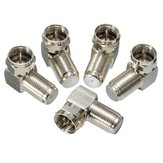 5PCs 90 Degree F Male To F Female Connector Adapter Coaxial Cable RG6 RG59