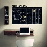 Month Calendar Chalkboard Sticker Blackboard Removable Planner Wall Stickers Black Board Office School Vinyl Decals Supplies