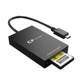 Rocketek CR315 Type-B USB3.1 Windows/Macbook için Yüksek Hızlı Transfer CFexpress Hafıza Kartı Okuyucu