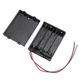 4 Yuva NO. 7 AAA Batarya Kutu Batarya 4 x AAA Bataryalar DIY kiti Kılıf için Anahtarlı Tutucu Kart