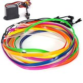 2M Flexible Car El Wire Neon Light Dance Festival z kontrolerem
