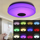 33CM 100W bluetooth WIFI LED Ceiling Light RGB Music Speaker Dimmable Lamp APP Remote Control 110-245V