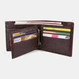 Carteira masculina RFID Couro Genuíno Slots para vários cartões Money Clip