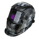 Casco de soldadura de energía solar Oscurecimiento automático Mascara Perilla ajustable de molienda TIG MIG
