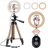 Bakeey Fülllicht Stativ Fotografie LED Selfie Ring Licht Fernbedienung Ringlampe für Make-up Video Live