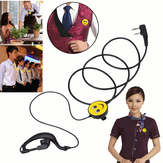 K Smiling Walkie Talkie Earphone Headset Two Eay Radio For kenwood Baofeng BF-UV5R BF888S Universal