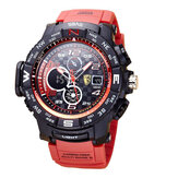 SBAO S8006 Luminous Display Fashion Sport Style 12/24hours Waterproof Men Dual Display Digital Watch