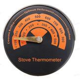 Fogão a lenha magnético Termômetro Fogão com ventilador de lareira Termômetro com ferramenta de forno de churrasco de sensibilidade doméstica com sonda