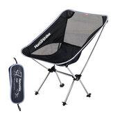 Cadeira dobrável portátil ultraleve ao ar livre NATUREHIKE com transporte Bolsa Cadeiras dobráveis para camping e pesca Praia Cadeira da lua