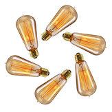 6 PZ Elfeland Retro Edison E27 ST58 60 W filo dritto lampadina ad incandescenza per la decorazione domestica AC220V