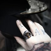 Black Skull Ring Of Death Stainless Steel Ring