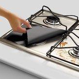 Honana 4Unids Almohadillas de Protección de Limpieza de la Estufa de Gas de Aluminio Reutilizable
