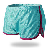 Mens Mesh Loose Breathable Sport Home Contrast Color Boxers