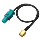 Antenna Adapter Plug Cable Fakra Z (M) to SMA (M) Connector For GSM GPS DAB 25cm