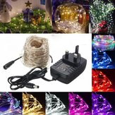 40M LED Srebrny drut Fairy String Light Christmas Xmas Wedding Party Lamp 12V