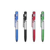 10Pcs 4-in-1 Ballpoint Pen Folding Screen Stylus Touch Pen Capacitive Pen with LED For Tablet Cellphone School Office