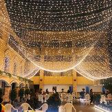 10m 2020 Fata dell'albero di Natale LED Corda impermeabile Luce Ghirlanda Catena Casa Giardino Festa di nozze Decorazioni per le vacanze all'aperto