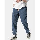 Heren corduroy ontwerp katoen effen kleur koord mid taille harem broek