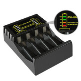 PUJIMAX 4 ranuras eléctrico Batería cargador inteligente rápido indicador LED cargador USB para AA / AAA Ni-MH / Ni-Cd recargable Batería