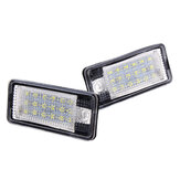 18-LED License Number Plate Lights Error Free Pair For Audi A3 S3 A4 A6 S6 A5 RS4