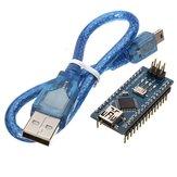 3 szt. ATmega328P Nano V3 Ulepszona wersja modułu z płytką rozwojową kabla USB Geekcreit dla Arduino - produkty współpracujące z oficjalnymi płytami Arduino