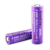 2PCS BestFire 18650 Battery 2600mAh 40A 3.7V Rechargeable Lithium Battery