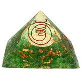 Cristal da pirâmide Yoga decorações home da pedra da cura da meditação de pedra preciosa da energia