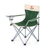 Naturehike cadeira dobrável de tubos de aço poltrona ao ar livre com um saco de armazenamento