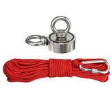48/60/67/75mm 80-400KG Neodymium Recovery Magnet Double Ring Hook Hunting Fishing Magnet with 10M Rope