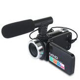 DC888 24MP HD Camcorder 18x Digital Zoom Video Camera for Youtube Live Vlog Night Vision 3 Inch LCD Touch Screen Camera with Microphone