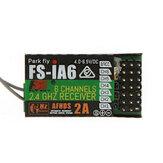 FlySky FS-iA6 2.4G 6CH AFHDS ontvanger voor FS-i10 FS-i6 zender