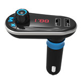 bluetooth Car Kit MP3 Player FM Transmitter Dual USB Car Charger Remote Control