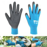 Garden Housework Gloves Waterproof Durable Nylon with Nitrile Sandy Coated Protection Safty Glove
