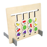 Komik Çift taraflı Renk Meyve Eşleştirme Oyunu Çocuk Ahşap Montessori Oyuncaklar Mantıksal Akıl Yürütme Eğitim Çocuk Eğitici Oyuncak Hediye