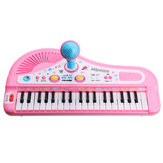 37 Keyboard Mini Electronic Multifunctional Piano With Microphone Educational Toy Piano For Kids