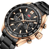 MINI FOCUS 0403G con finestra calendario puntatore luminoso 3 sub-quadrante 3ATM orologio da polso da uomo impermeabile orologio al quarzo
