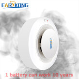 EARYKONG 433MHz Smoke Detector Wireless Fire Protection Smoke Sensor Highly Sensitive Alarm Fire For GSM/Wifi Alarm System