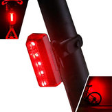 XANES TL10 5 LED 5 Modes Bike Tail Light Waterproof USB Charging Reflective Shell Bicycle Rear Light