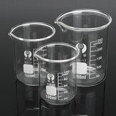 3Pcs 100ml 150ml 250ml Beaker Set Graduated Borosilicate Glass Beaker Volumetric Measuring Lab Glassware