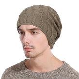 Gorros de punto de algodón cálido de invierno para hombre Gorros a prueba de viento de engrosamiento causal al aire libre Sombreros elásticos