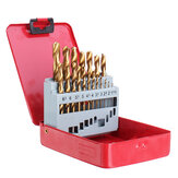 Drillpro 13/19/25pcs HSS Twist Drill Bit Set 1-10mm Titanium Coated Drill Bit for Wood Metal Drilling